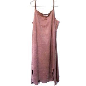 Mod Ref Dress Suede Feel Fabric Mauve